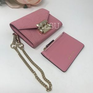 Michael Kors Decp QuiltedLeatherChain Wallet Rose